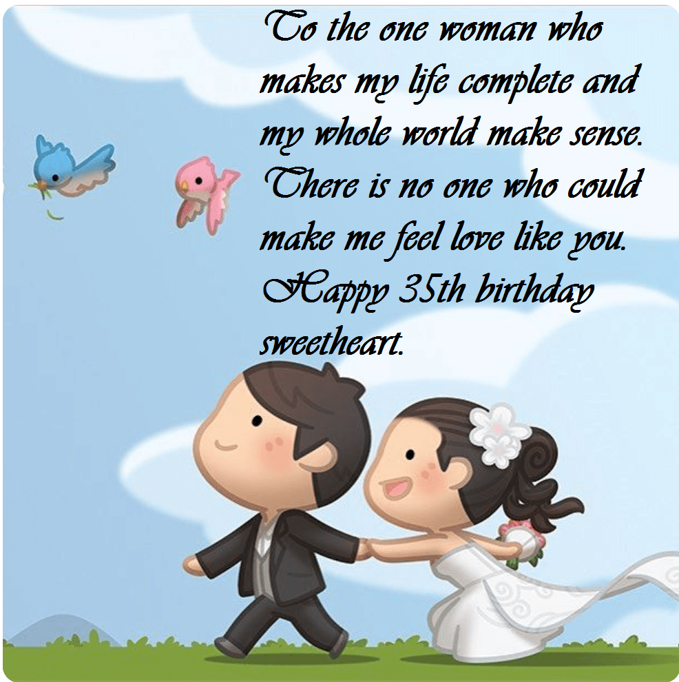 Enjoyable Happy 35Th Birthday Wishes Messages For Wife Best Wishes Personalised Birthday Cards Paralily Jamesorg