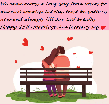 11th Marriage Anniversary Wishes Quotes Images | Best Wishes